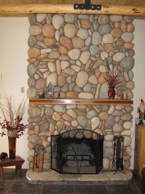 River Rock Fireplace Yelp