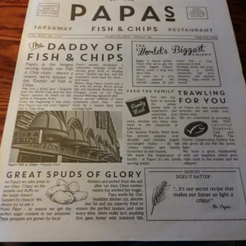 Papas fish and chips fish chips great gutter lane for Fish and chips newspaper