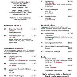 Me Vietnamese Kitchen 18 s & 39 Reviews