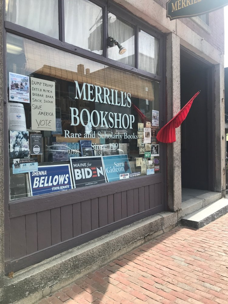Merrill's Bookshop: 110 Water St, Hallowell, ME