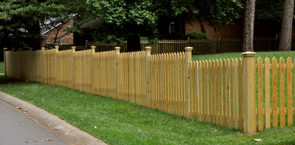 Photo Of Champion Fence Builders Charlotte Nc United States Custom Wood Pointed