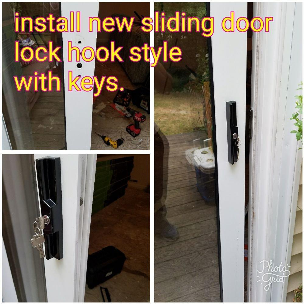 Install New Sliding Door Lock Hook Style With Keys Yelp