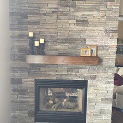 Photo Of Fireplace Stone Patio Omaha Ne United States