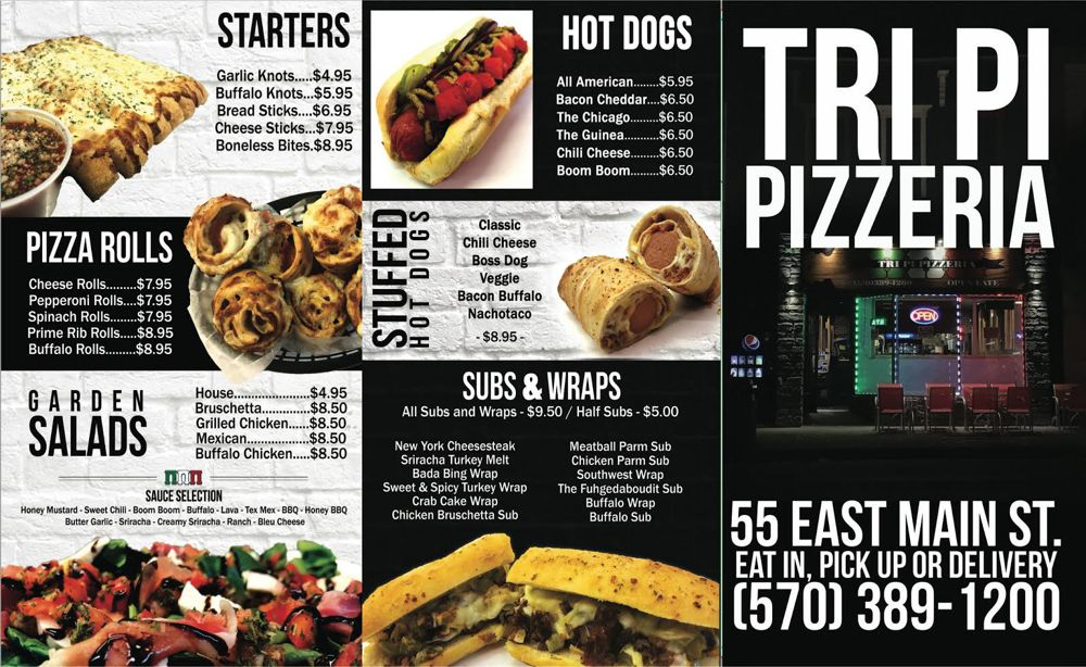 Tri Pi Pizzeria: 55 E Main St, Bloomsburg, PA