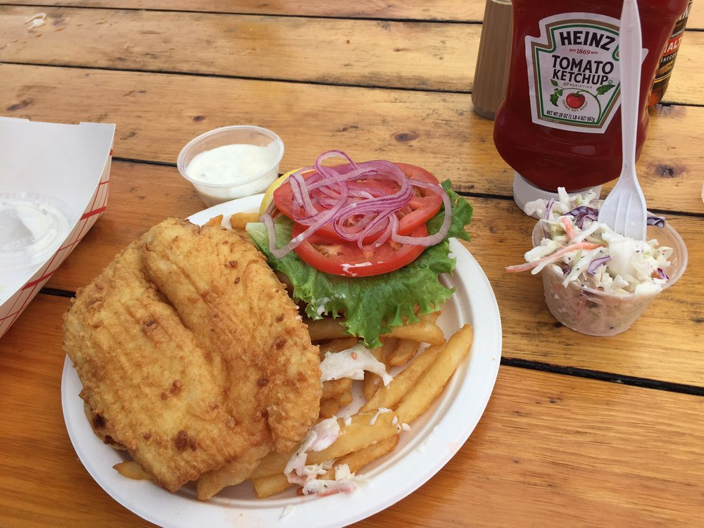 Fish sandwich so good big enough to split with two for Good fish sandwich near me