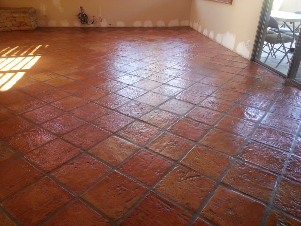 Upside Down Saltillo Tile Striped And High Sheene Yelp