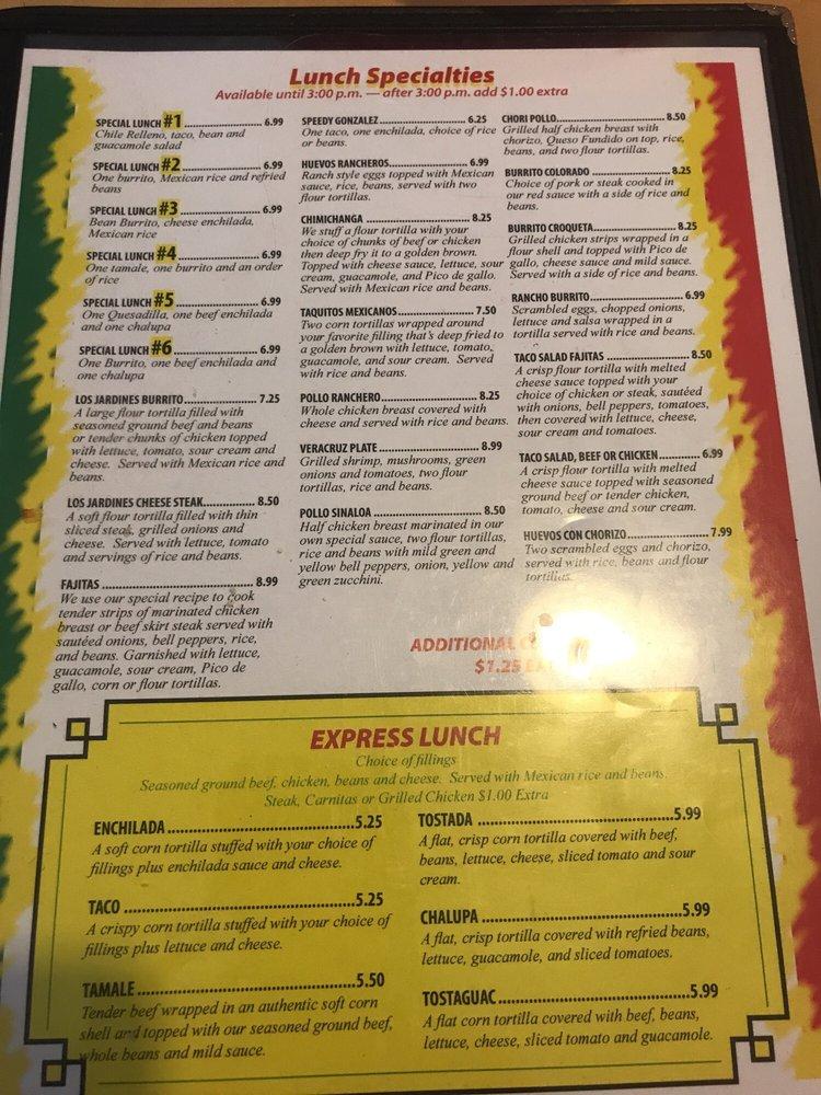 Los Jardines Restaurant: 124 E Main St, Robinson, IL
