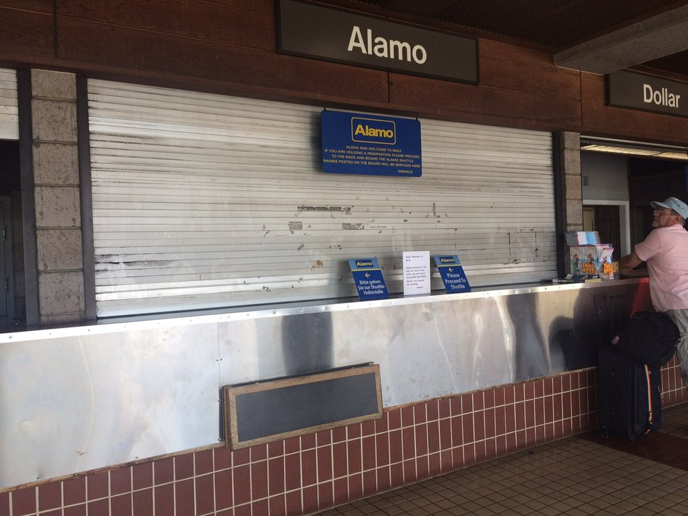 Alamo Car Rental Maui: The Only Counter Closed At Maui Airport