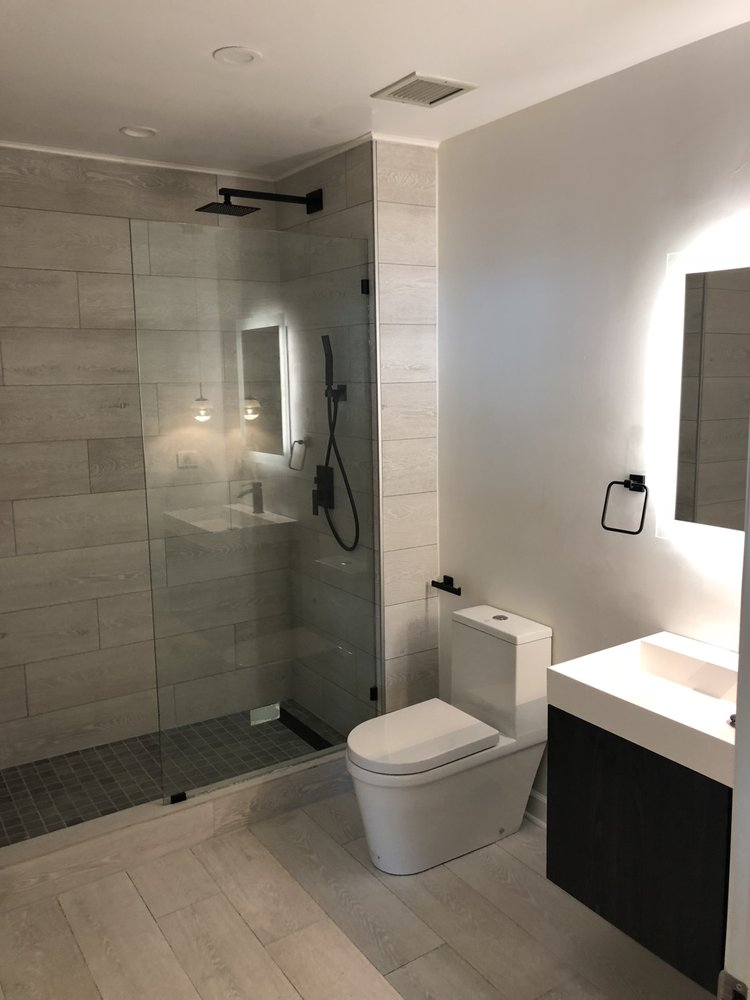 Full Bathroom Remodel New Floor Tub To Shower Conversion New