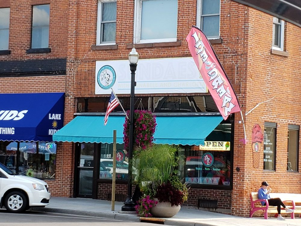 Sundaes with Annabelle and Charlotte: 10555 Main Street, Hayward, WI