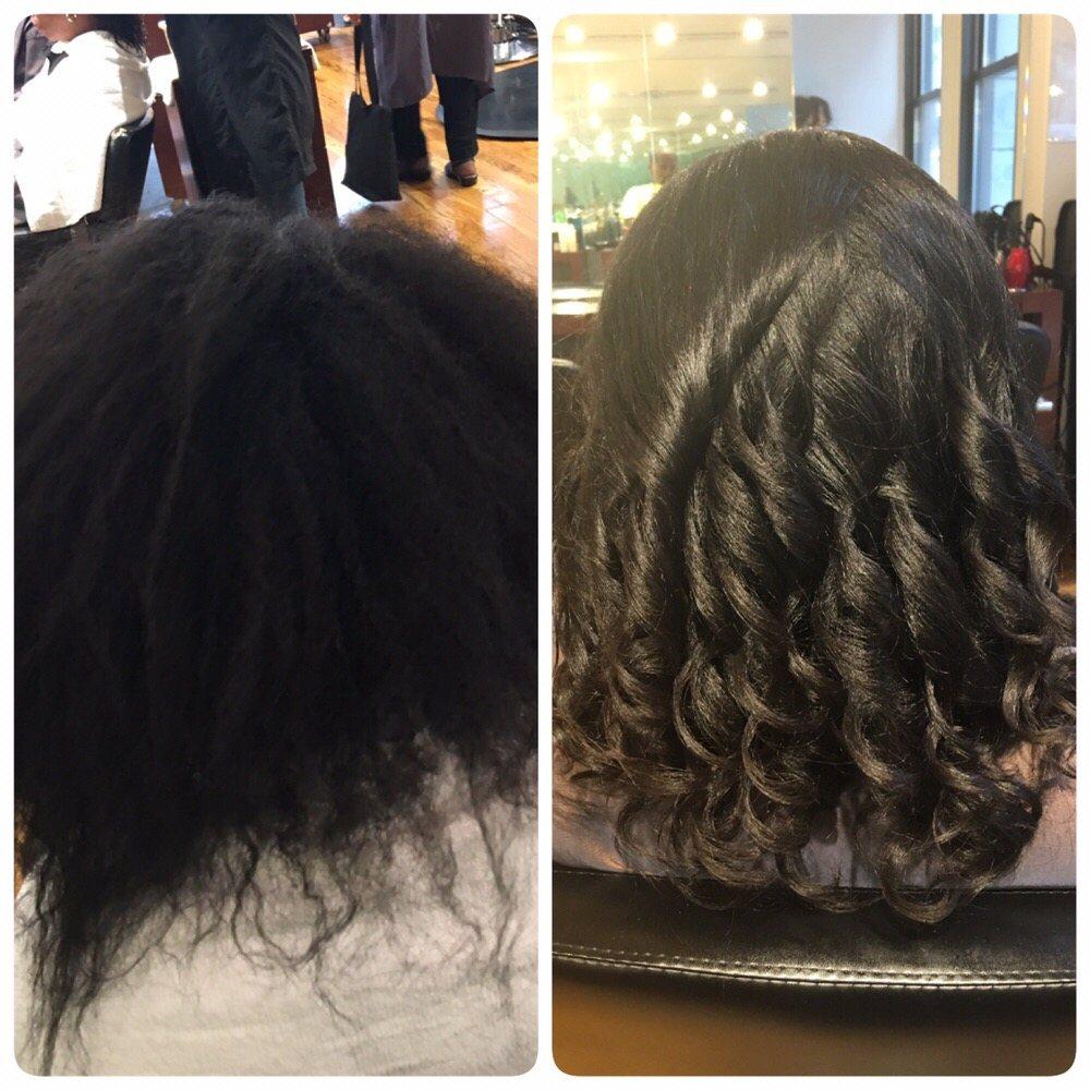 Natural Hair Silk Press Cut And Style Yelp