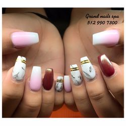 Photo of Grand Nail Spa - Pflugerville, TX, United States. Nails by solar