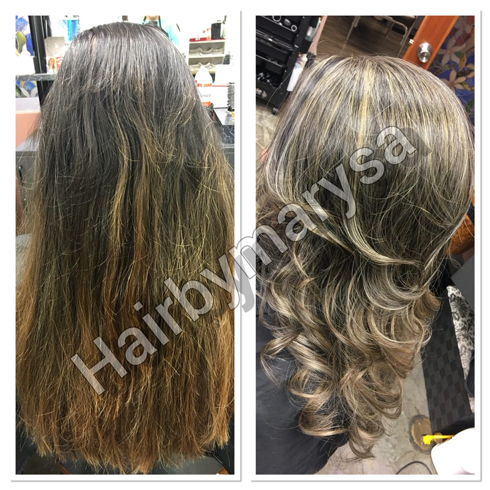 Matrix Opti Smooth Before After And 3 Days Later After Shampoo And