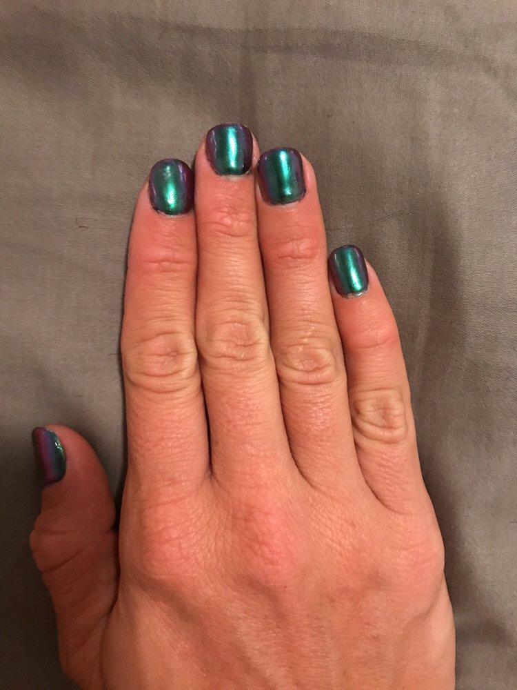Iridescent chrome nails! - Yelp