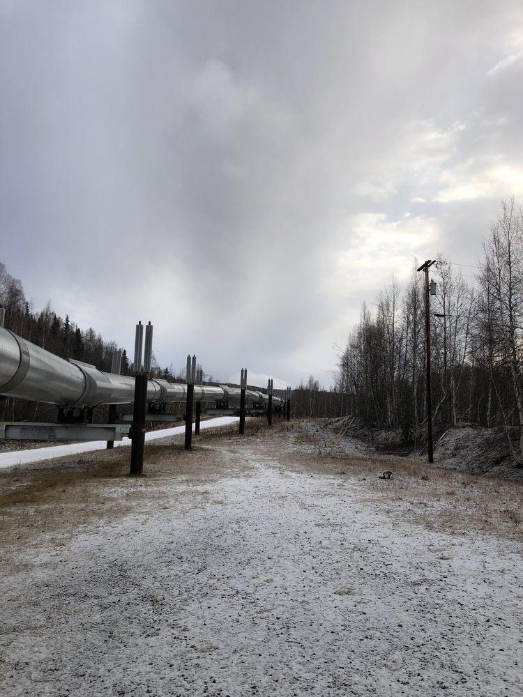 Trans-Alaska Pipeline Viewpoint: 1671 Steese Hwy, Fairbanks, AK
