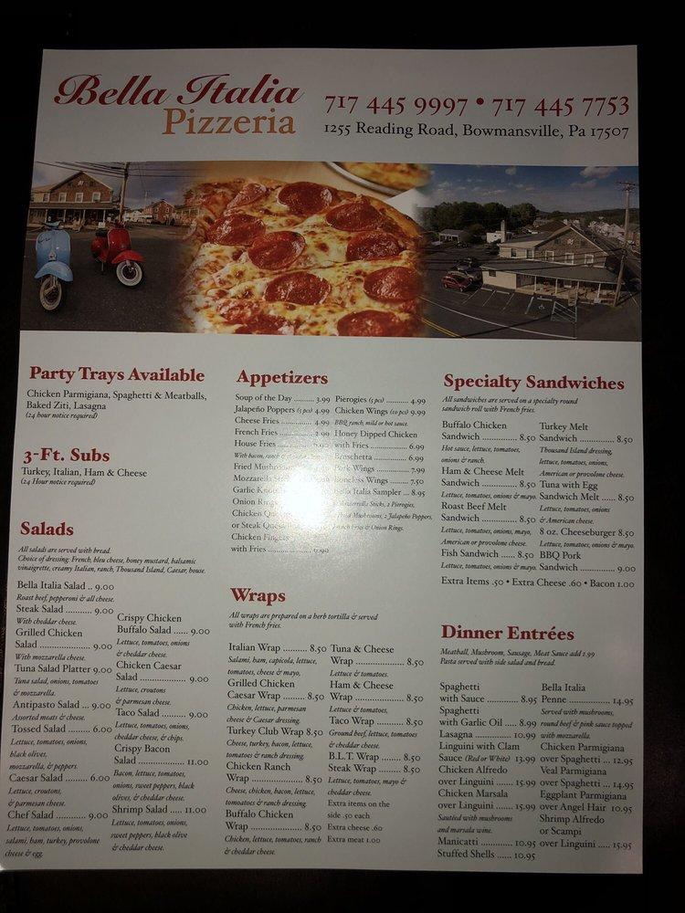 Bella Italia Pizzeria: 104 E Maple Grove Rd, Narvon, PA