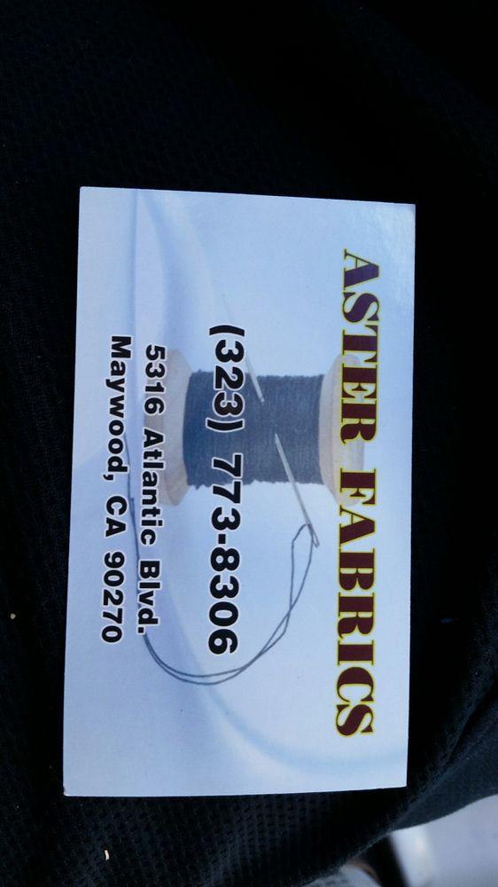 Aster Fabrics: 5316 Atlantic Blvd, Maywood, CA