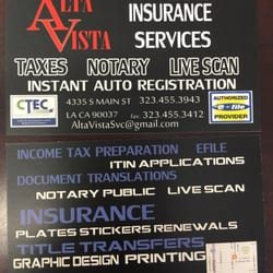 Alta vista services insurance 4335 s main st historic south photo of alta vista services los angeles ca united states business card reheart Image collections