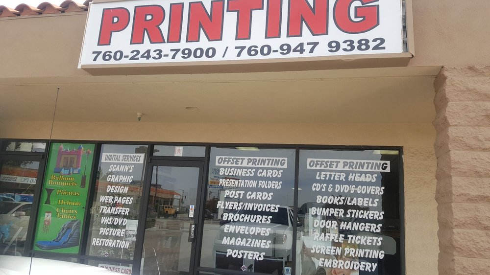 Centurion graphics printing printing services 12555 mariposa rd victorville ca phone number yelp