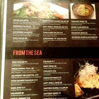 Naked fish s sushi grill 659 photos 490 reviews for Naked fish menu