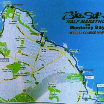 Big Sur Half Marathon Elevation Map.Monterey Bay Half Marathon 81 Photos 66 Reviews Races