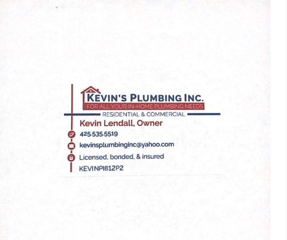Kevin's Plumbing: Granite Falls, WA