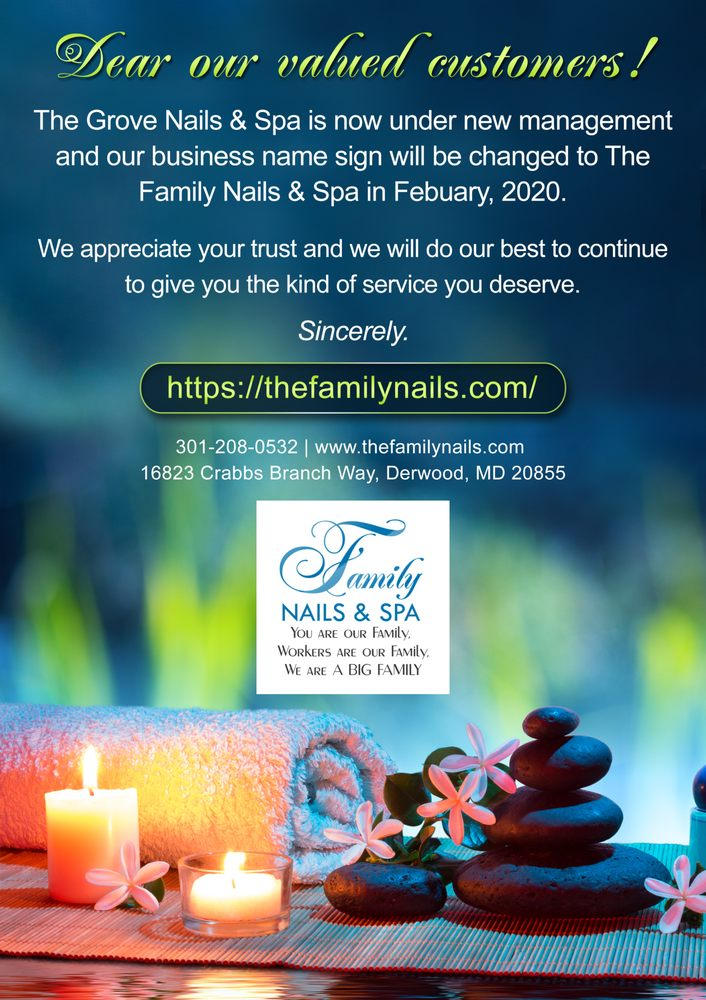 Family Nails & Spa: 16823 Crabbs Branch Way, Derwood, MD