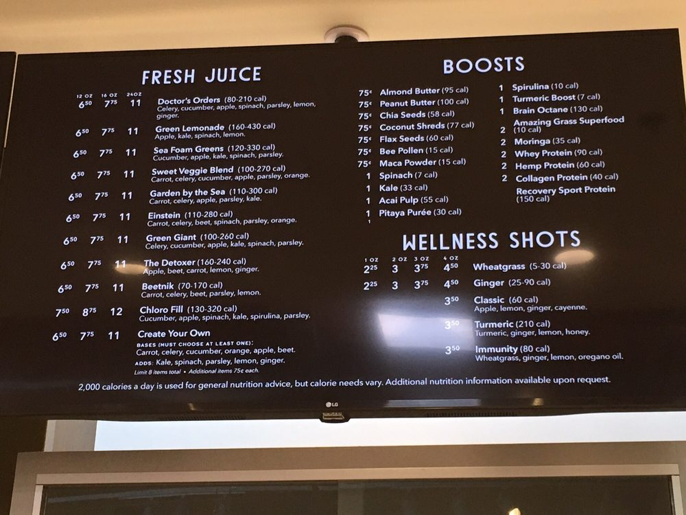 Whole Foods Smoothie Bar Menu Austin