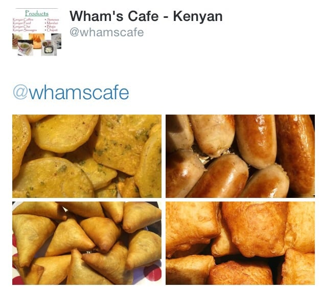 Food from Wham's Cafe