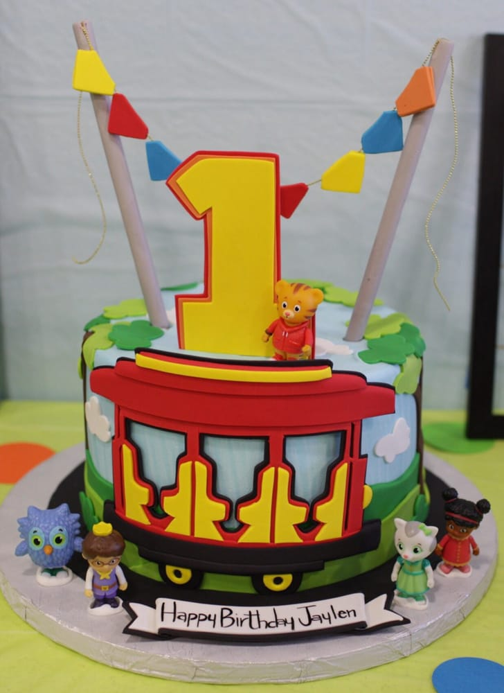 daniel tiger cake daniel tiger theme birthday cake with velvet 3305