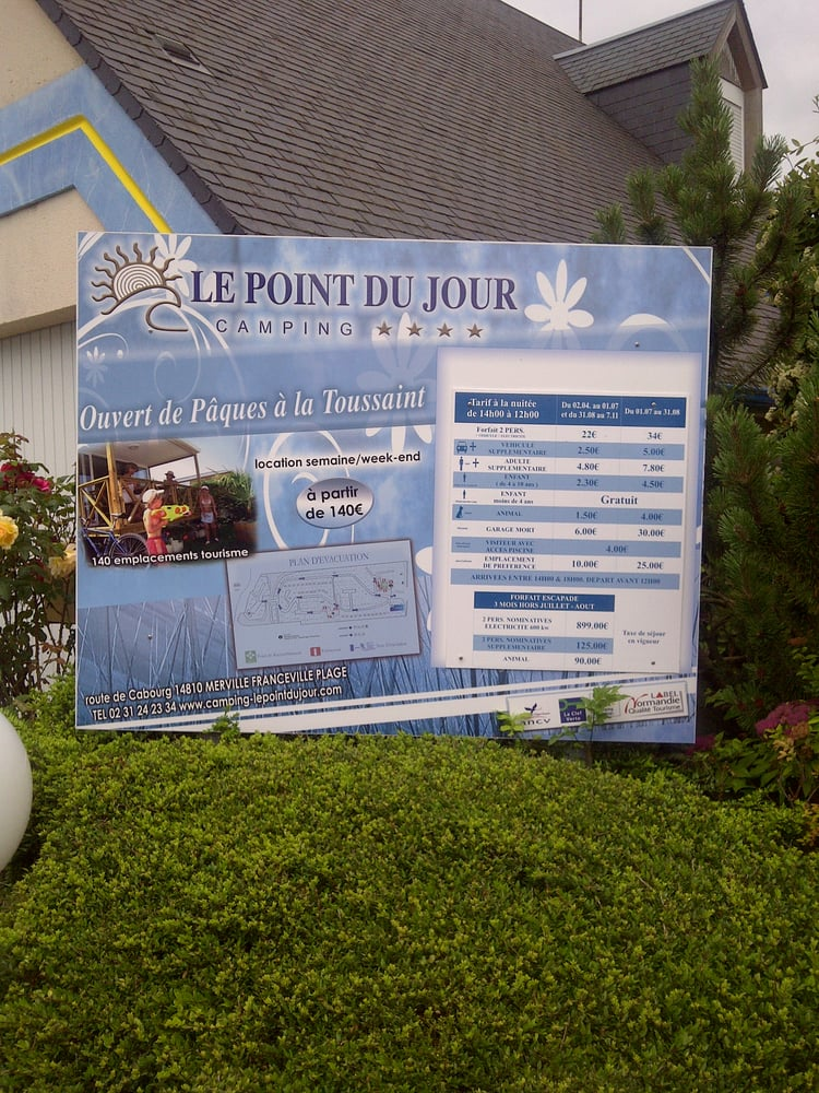 Camping municipal le point du jour campings route for Camping cabourg piscine