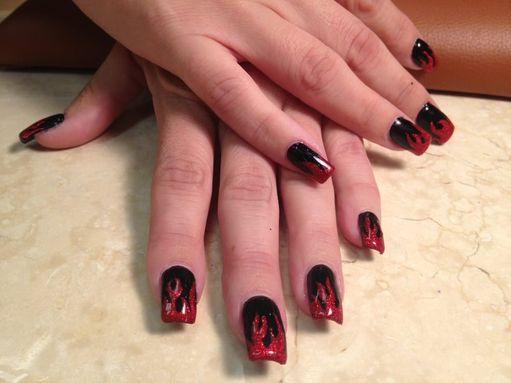Red Flames black base by Tin  - Yelp