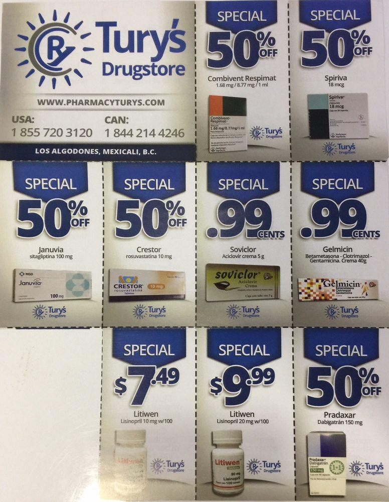 Tury's Drugstore: Av. A S/N, Los Algodones, BCN