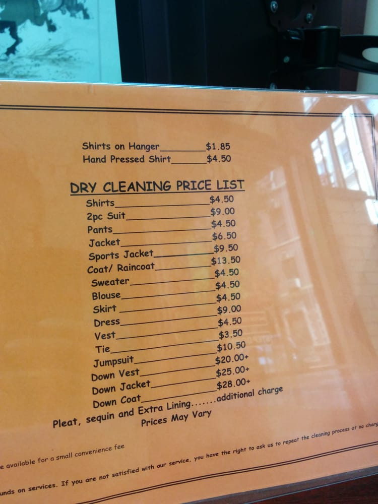dry cleaning prices cleaners nyc prices 30704