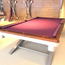 On Cue Billiards Photos Reviews Pool Billiards - Cost to have pool table refelted