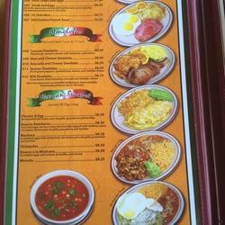 Cancun Cafe Okotoks Menu