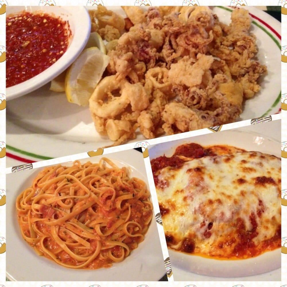 Peppino S Italian Restaurant: Calamari, Pasta Toscana, And Eggplant Parmigian. Yummy!