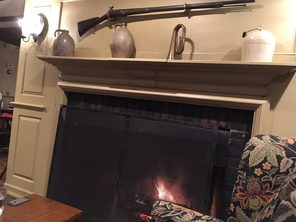 Cozy little fire place with Revolutionary War Musket  :) - Yelp