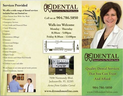 Dental Marketing Brochure Sample  Yelp