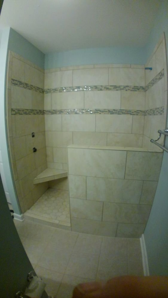 Replaced old Whirlpool tub shower combo with 12\