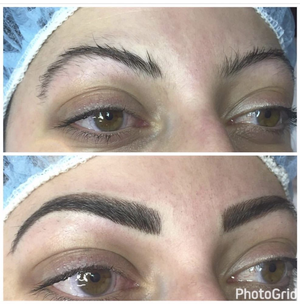 Before And After Of My Eyebrows Microbladed By The Talented Shauna