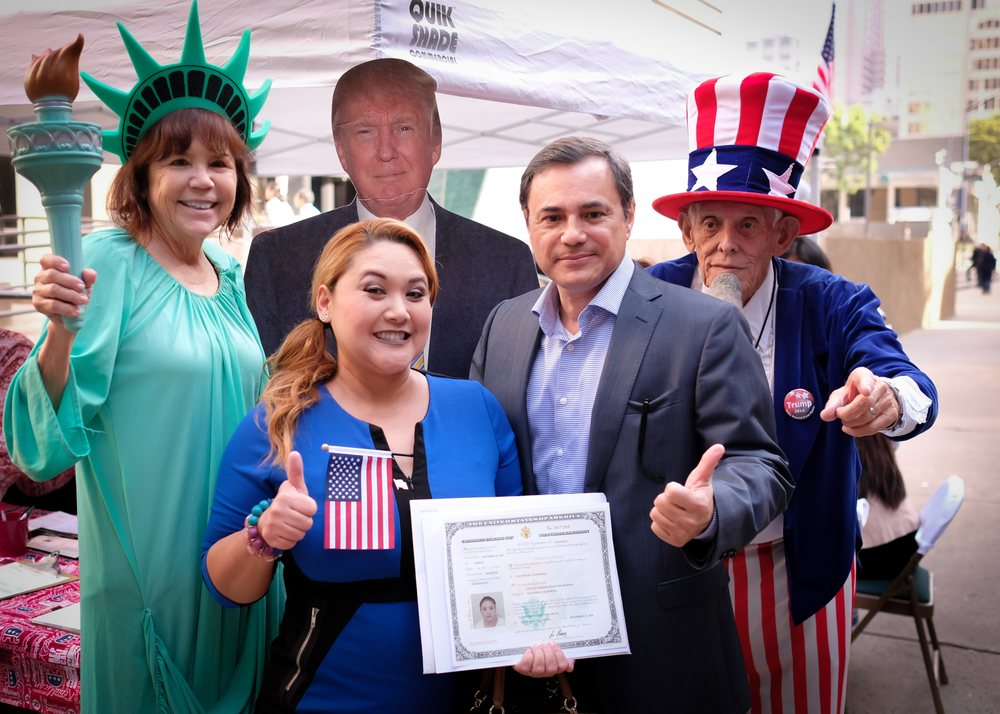 Naturalization/citizenship ceremony  Attorney John Rodriguez