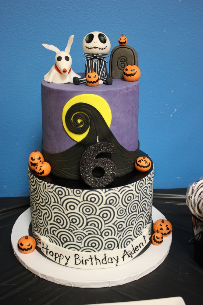 Jack Skellington Cake For My Sons 6th Birthday Turned Out Amazing