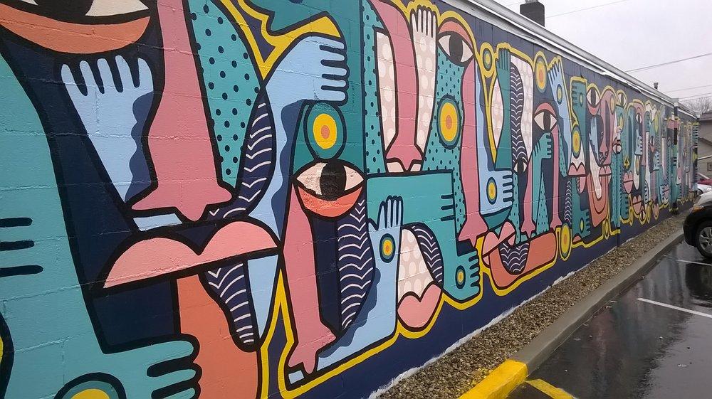 One Body mural: 29 E Main St, Mooresville, IN