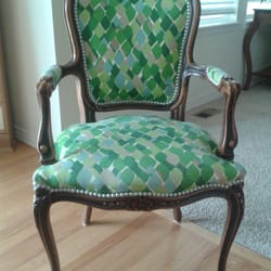 Photo Of Franku0027s Upholstery   Denver, CO, United States. Custom  Reupholstered Chair!