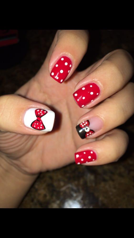 Photo Of Glamorous Nails West Covina Ca United States Minnie Mouse