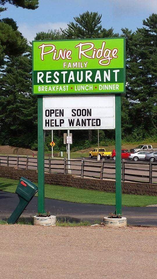New Pine Ridge Restaurant: 1302 N Center Ave, Merrill, WI