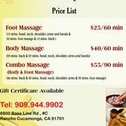 massage happy ending vids Rancho Cucamonga, California