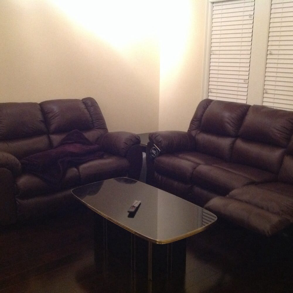 Sofa Tv Room: Super Comfortable 100% Leather Reclining Sofas For Our New