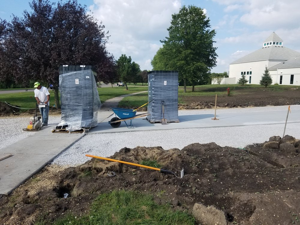 1st phase of installing new Permeable Paving System  This